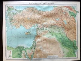 Bartholomew 1922 Large Map. Asia Minor, Syria & Mesopotamia